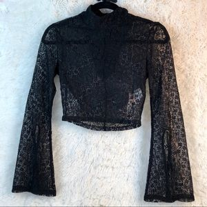 Women's Lace Long Sleeved crop top is Stunning!!